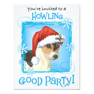 Happy Howlidays Russell Terrier Card