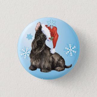 Happy Howlidays Scottish Terrier 3 Cm Round Badge