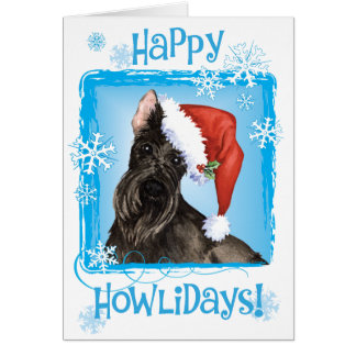 Happy Howlidays Scottish Terrier Card
