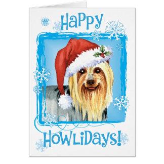 Happy Howlidays Silky Terrier Card