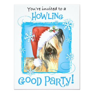 Happy Howlidays Skye Terrier 11 Cm X 14 Cm Invitation Card