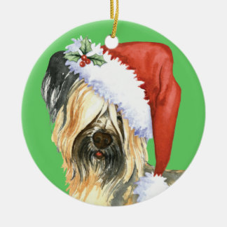 Happy Howlidays Skye Terrier Ceramic Ornament