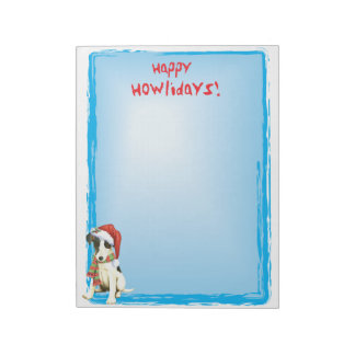 Happy Howlidays Smooth Fox Terrier Notepads