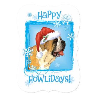 Happy Howlidays St. Bernard 13 Cm X 18 Cm Invitation Card