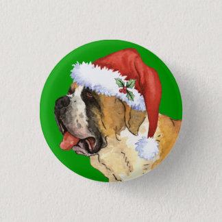 Happy Howlidays St. Bernard 3 Cm Round Badge