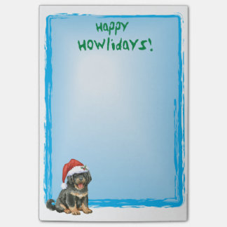 Happy Howlidays Tibetan Mastiff Post-it Notes