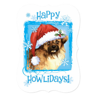Happy Howlidays Tibetan Spaniel Card