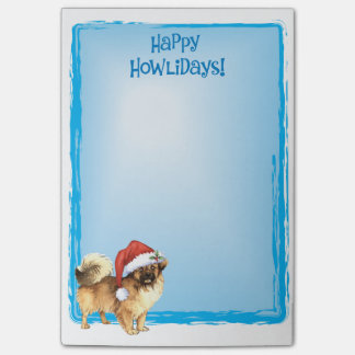 Happy Howlidays Tibetan Spaniel Post-it Notes