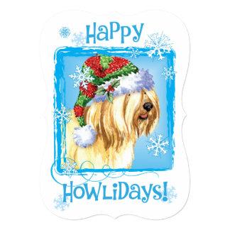 Happy Howlidays Tibetan Terrier Card