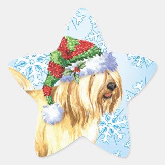 Happy Howlidays Tibetan Terrier Star Sticker