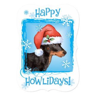 Happy Howlidays Toy Manchester Terrier Card