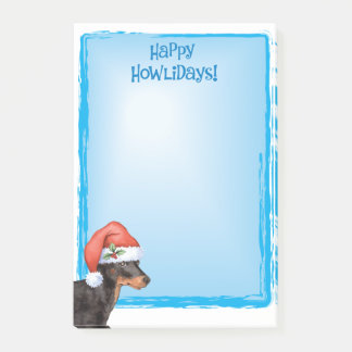 Happy Howlidays Toy Manchester Terrier Post-it Notes