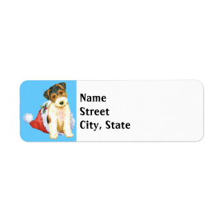 Happy Howlidays Wire Fox Terrier Return Address Label
