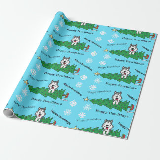 Happy Howlidays Wrapping Paper