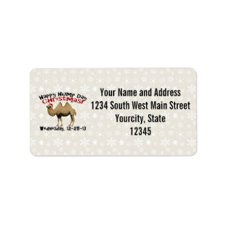 Happy Hump Day Christmas Funny Wednesday Camel Address Label
