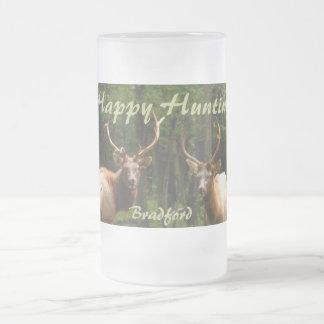 """Happy Hunting Elk Beer Stein """"your Name"""" Beer Mug"""
