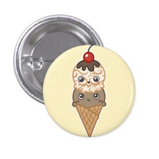 Happy Ice Cream Button Yellow