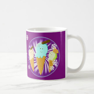 Happy Ice Cream Cones Basic White Mug
