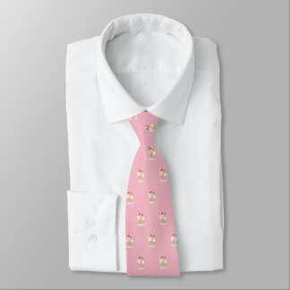 Happy Ice Creams  (pale pink) Tie