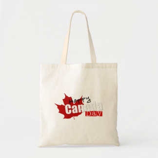 happy independance day canada flag tote bag