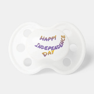 Happy independence day, colorful letter art dummy