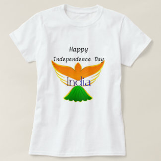 Happy Independence day India (flag on bird art) T-Shirt