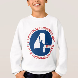 Happy Independence day liberty statue silhouette Sweatshirt
