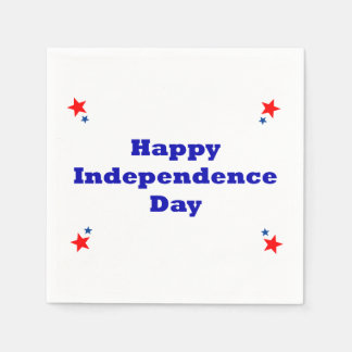Happy Independence Day Napkins Paper Serviettes