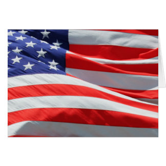 Happy Independence Day! The Fourth, American Flag Greeting Card