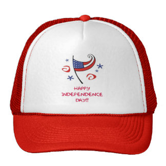 Happy Indepependence Day Cap