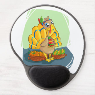 Happy Indian Turkey ready for thanksgiving Gel Mouse Pad