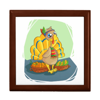 Happy Indian Turkey ready for thanksgiving Gift Box