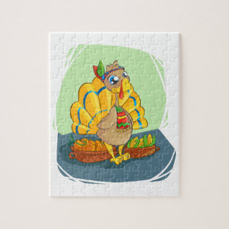 Happy Indian Turkey ready for thanksgiving Jigsaw Puzzle