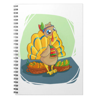 Happy Indian Turkey ready for thanksgiving Notebooks