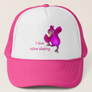 Happy Inline Skating by The Happy Juul Company Trucker Hat