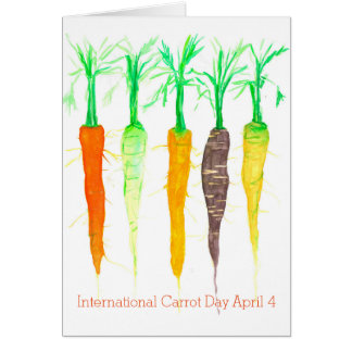 Happy International Carrot Day April 4 Card