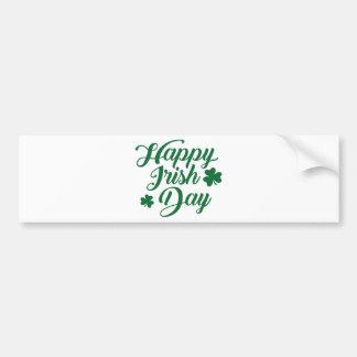 Happy irish day bumper sticker