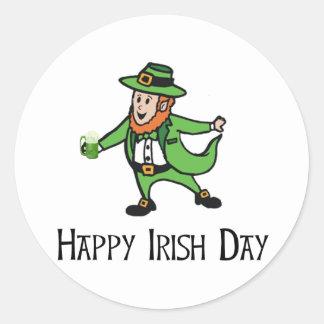 Happy Irish Day Round Sticker