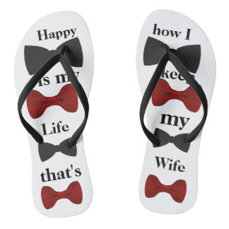 Happy is my life Adult, Slim Straps Thongs