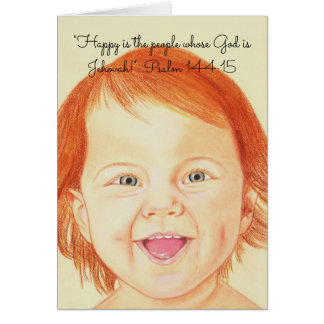 Happy is people whose God is Jehovah!~Scripture Card
