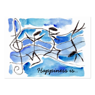 Happy is Saying Music Notes Chubby Business Cards