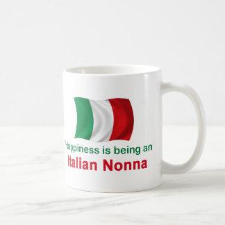 Happy Italian Nonna Basic White Mug