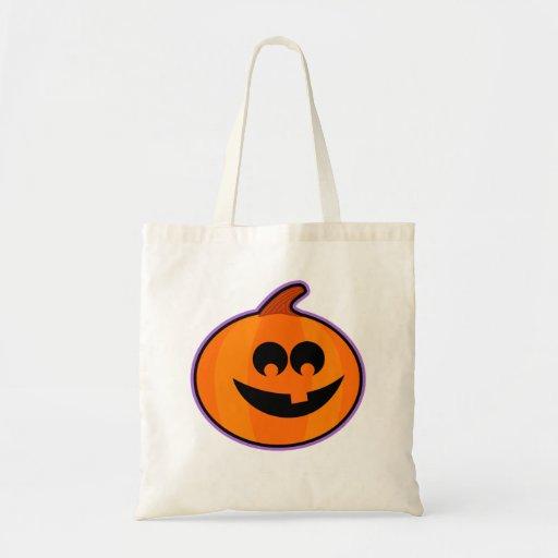 Happy Jack-O-Lantern Halloween Trick or Treat Bag