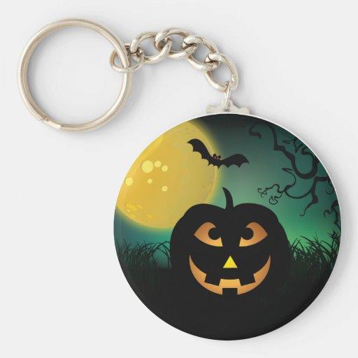 Happy Jack O' Lantern Keychain