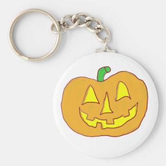 Happy Jack O Lantern Keychain