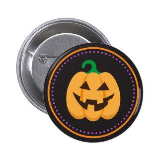 Happy Jack o Lantern pumpkin Halloween buttons