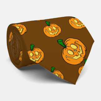 Happy Jack-o-lantern Tie