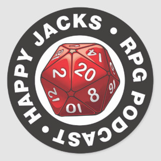 Happy Jacks d20 Logo Sticker