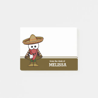 Happy Jalapeno Pepper Personalized Post-it Notes