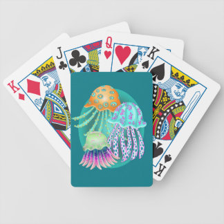 Happy Jellyfish Bicycle Playing Cards